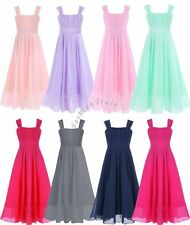 Chiffon Girls Flower Princess Formal Pageant Wedding Bridesmaid Party Dress 4-14