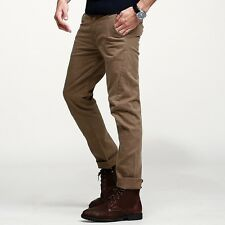 Great! 28-36 Mens Fashion Casual Pants Slim Straight Little Stretchy Trousers
