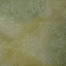 Quilt Fabric Cotton Calico Quilting FQ Light Green Tonal Damask: Cut-to-Order