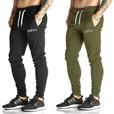 Mens Slim Fit Sports Gym Pants Jogging Running Trousers Tracksuit Sweatpants New