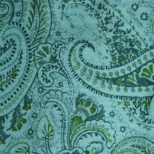 Quilt Fabric Calico Cotton Quilting FQ Teal Tonal Paisley: Fat Quarters or BTY