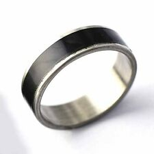 Fashion Mens Black Enamel stainless steel love Ring Size 7-11 Free Shipping