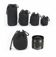 1~4pcs x Camera Neoprene DSLR Lens Soft Pouch Protector Case Bag For Canon New