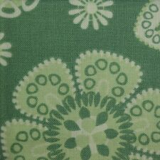 Quilt Fabric Cotton Calico Quilting FQ Green Retro Flower by JoAnn Fabrics
