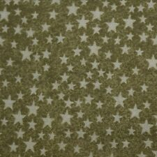 Quilt Fabric Cotton Calico Quilting FQ Green w/ Little Stars by Marcus