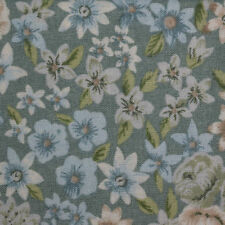 Quilt Fabric Cotton Calico FQ Green Floral: Structure & Innuendo by Fabri-Quilt