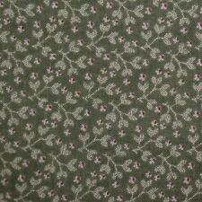 Quilting Fabric Cotton Calico Quilt FQ Green Tiny Floral Fat Quarter