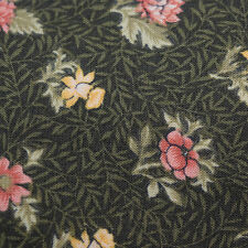 Quilting Fabric Calico Quilt Green Country Floral by Marcus: FQ or Cut-to-Order