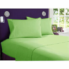 1200 TC Egyptian Cotton All Bedding Items UK-Small Double Size Sage Solid