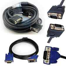 SVGA VGA 15Pin  Male to Male PC Monitor TV LCD Projector LED to TFT Lead Cable