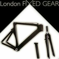 London FIXED GEAR 'Veloce 500' Time Trial Triathlon TT/Tri carbon Frame-Set