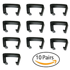 Outdoor Wicker Rattan Sofa Furniture Fasteners Clip Sectional Connector 10 pack