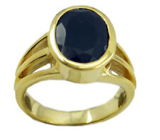 Black Onyx Gold Plated Ring marvelous Black handcrafted AU K,M,O,Q