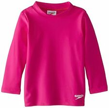 Speedo Little Girls' Begin To Swim UV 50+ Toddler Long Sleeve Rashguard