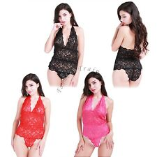 Sexy Women's Lingerie Underwear Babydoll Sleepwear Lace Dress G-string Nightwear