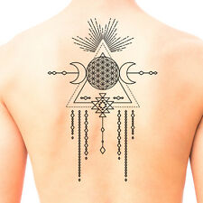 Tribal Shaman Mandala Temporary Tattoo #671 - Temporary Tattoos