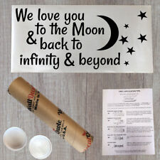 Wall Decal Quote We Love You To The Moon And Back To Infinity And Beyond (PC256)