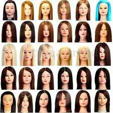HOT Hairdressing Practice Training Head Human Hair Head Makeup Mannequin + Clamp