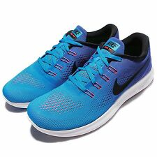 Nike Free RN Run Blue Black Mens Running Shoes Sneakers Free Run 831508-404