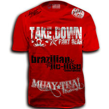 Sponsored Take Down M Walkout MMA Fighters New T-Shirt UFC W FREE Tapout Sticker