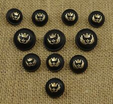 Embellishment Button Blazer Craft Buttons Shank Metal Crown And Shield Symbol