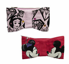 Disney Couture Clutch Make Up Bag Cosmetic Brush Case Snow White Micky Mouse New