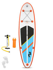 Two Bare Feet Model One 9'9 Inflatable Stand Up Paddle Board SUP (Naranja) Packs