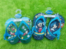 Disney Mickey Mouse Flip Flops Rubber Blue Infant Toddler Size 5/6 Baseball NWT