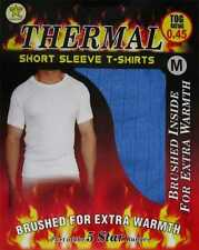 2 Mens THERMAL Short Sleeve T-Shirt Vest WINTER Ski Underwear / S M L XL XXL