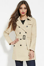 Sold Out Forever 21 Khaki Classic Trench Coat Small S