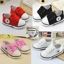 Kids Casual Flat Canvas Shoes Toddler Lace Sneakers Kids Children Trainers