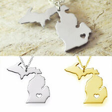 Simple Lady Necklace Pendant Neck Chain Jewelry Hollow Heart Plating Party Alloy