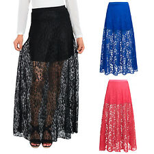 Womens Lace Maxi Skirt Ideal For Summer Gypsy Boho Skirt