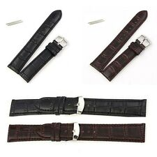 18/20/22/24MM Stainless steel tang buckle PU Leather WristWatch Strap Watch Band