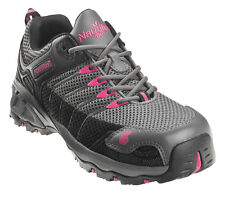 Nautilus Womens Composite Toe EH Athletic M Grey/Pink Mesh Shoes