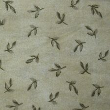 Quilt Fabric Cotton Calico Green Tossed Leaves by Marcus: FQ or Cut-to-Order