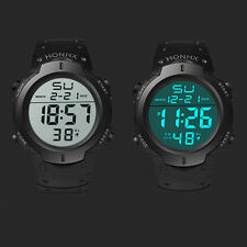 Men Casual Sports Water Resistant LED Backlight Date Digital Wrist Watch Clever
