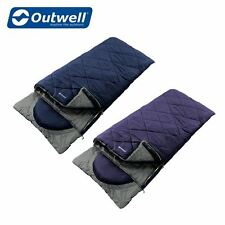 Outwell Contour Lux Sleeping Bag Extra Warmth Camping Sleeping Bag - 2 Colours