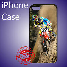 ED# Chad Reed Australian motocross Racings Case Cover iPhone 8 7 6s+ 6+ se 5c 5s