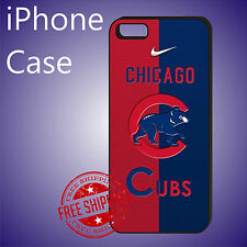 ED# MLB Chicago Cubs Baseball Teams Case Cover iPhone 8 8+ 7+ 7 6s+ 6+ se 5c 5s