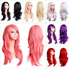 24''Fancydress Long Hair Full Wig Wavy Bouncy Synthetic Anime Cosplay Party Wigs