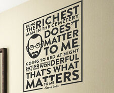 Steve Jobs Being The Richest Man In The Cemetery Doesnt Wall Art Vinyl Decal T76