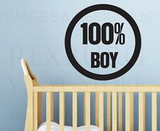 Wall Quote Decal Sticker Vinyl Lettering Large All Boy Nursery Baby's Room K44