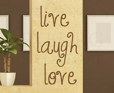 Wall Quote Decal Sticker Vinyl Art Lettering Removable Live Laugh Love IN05