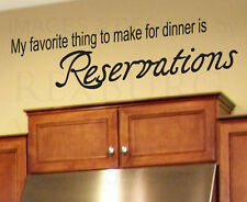 Wall Decal Sticker Quote Vinyl Large My Favorite Thing for Dinner Kitchen KI09