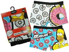 Mens Briefs The Simpsons 2 Pack Homer Donuts Trunk Boxer Style Pants S to XL