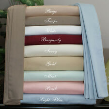 New 1200 TC  Egyptian Cotton Complete Bedding Items UK Emperor All Solid Color