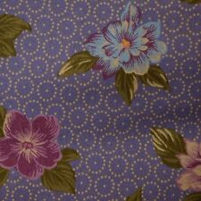 Quilt Fabric Cotton Calico Pretty Purple Floral by Cranston: FQ or Cut-to-Order