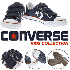 Converse KIDS Trainers Sports Shoes Sneakers Navy & White Star Player 3v Unisex