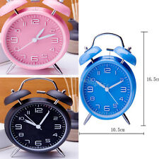 """4"""" Twin Bell Alarm Clock With Stereoscopic Dial Backlight Loud Alarm Clock Home"""